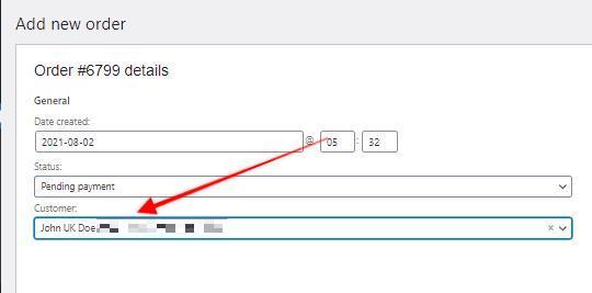 Add new order ‹ we are ag — WordPress - Google Chrome 2021-08-02 at 6.34.11 PM